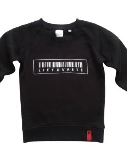 mergaitiškas džemperis lietuvaitė, juodas džemperis, vaikams, vaikiška apranga, ne bobų reikalai, drabužiai